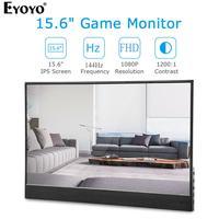 """עבור מחשב Eyoyo EM15Z 144HZ 15.6"""" FHD 1920X1080 ניידת שב""""ס גיימינג צג עם USB מסוג C-HDMI Ultra מסך LCD Slim עבור טלפון מחשב נייד (1)"""