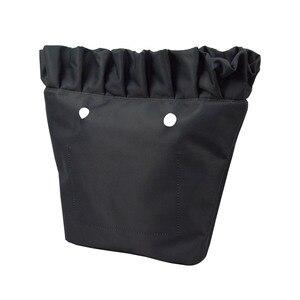 Image 3 - New Frill Pleat Soild Fabric Waterproof Inner Lining Insert Zipper Pocket for Classic Mini Obag Inner Pocket for O Bag