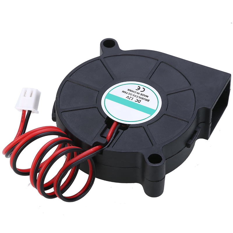 1Pc 3D Printer Fan Tools Cooling Blower Fan DC 12V 5015 Radial Blower Cooling Fan 35000 Hours Life For 3D Printer