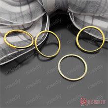 Золотого цвета 10 мм 14 мм 25 мм 30 мм 40 мм 50 мм круглое медное Закрытое кольцо Diy аксессуары для ювелирных изделий(JM6441