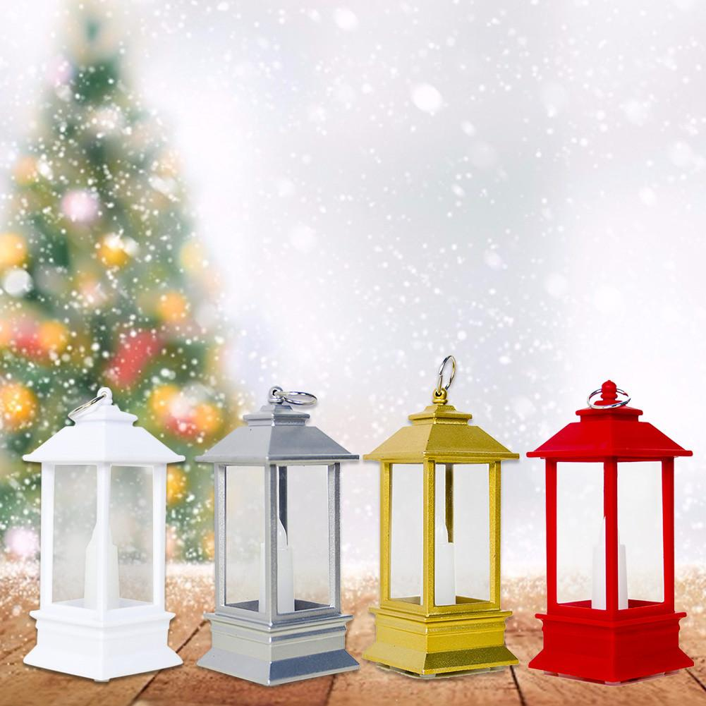 Christmas Table Lamp LED Lantern Candle Light Christmas Tree Pendant Home Decorations Tea Light New Year Night Light