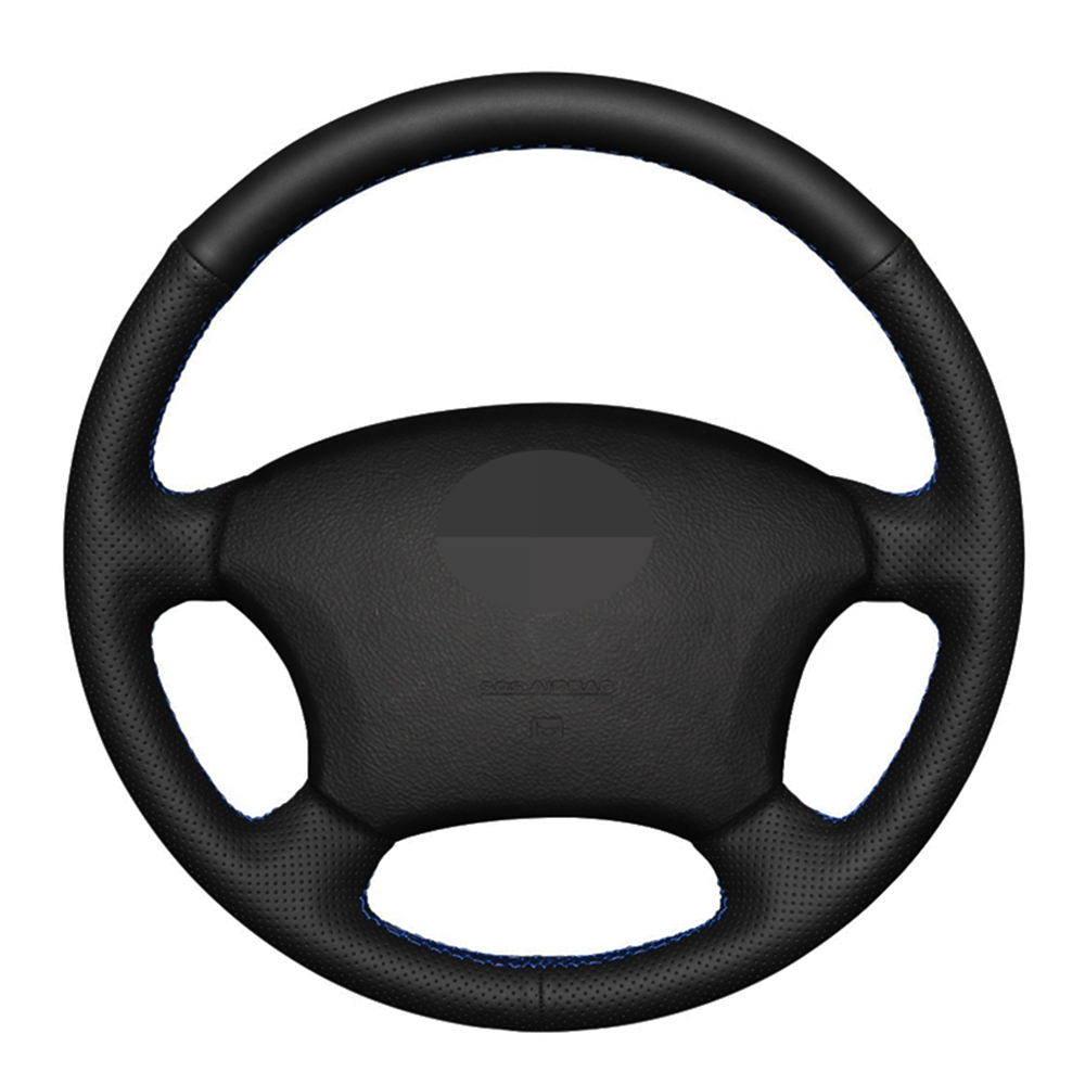 Car Steering Wheel Cover DIY Hand-stitched Black Artificial Leather For Toyota Land Cruiser Prado 120 2004-2009 Land Cruise