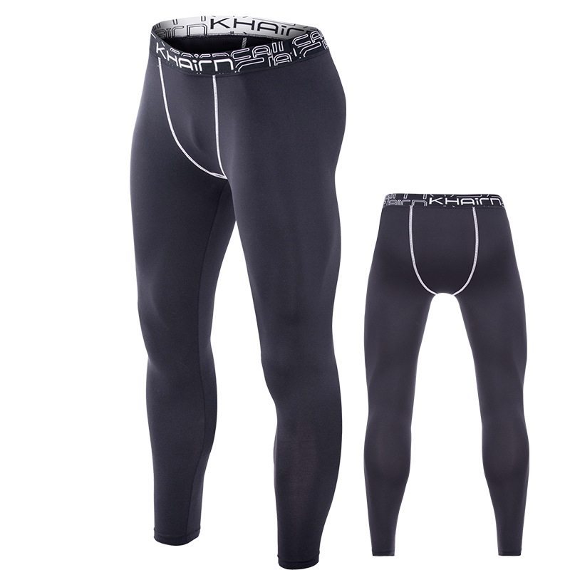 Mens Compression Sports Pocket Pants Trousers Quick Dry Fit Running Tights USA
