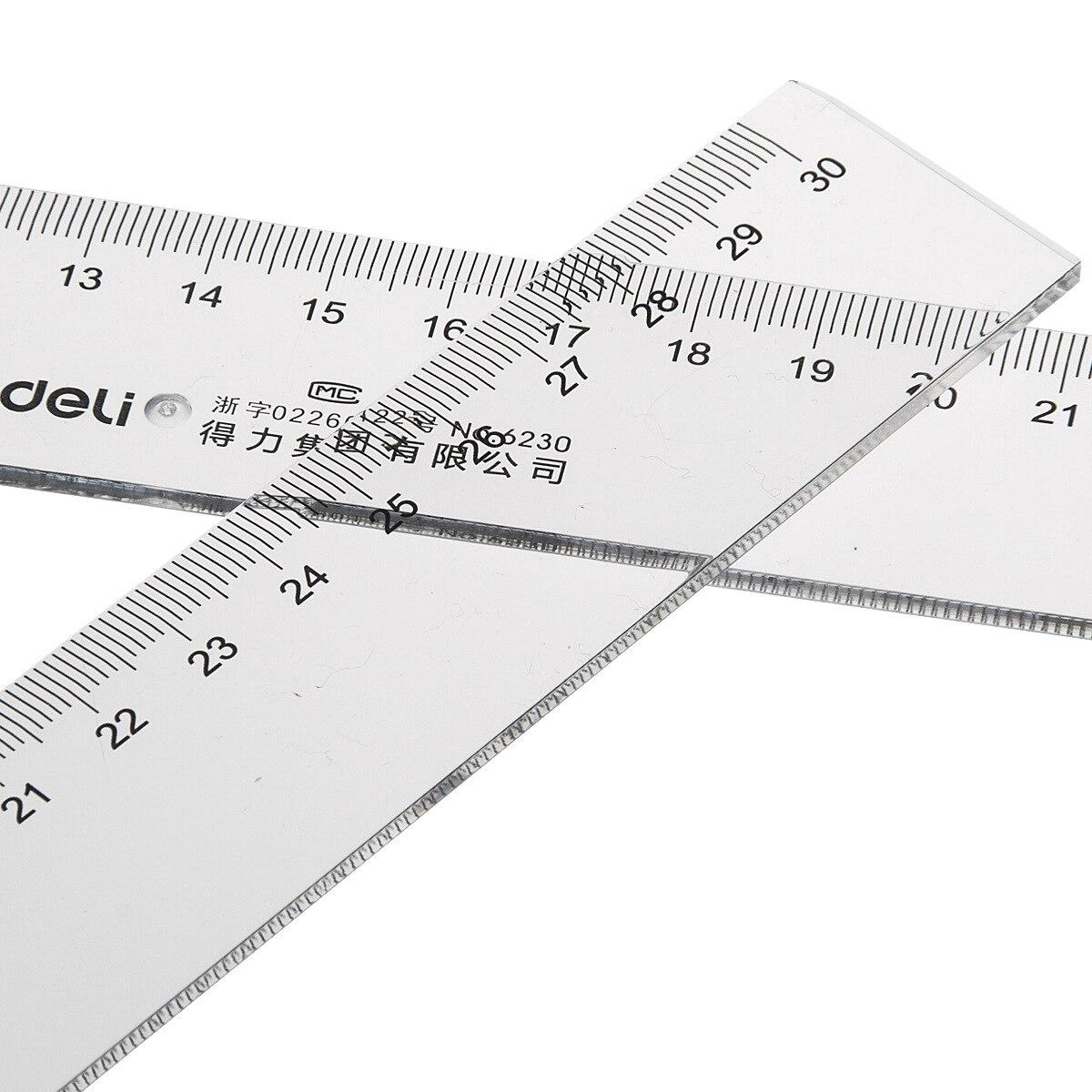 Deli Ruler Deli 6230 Ruler Deli 30cm Plastic Ruler