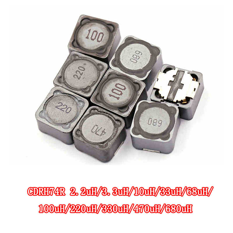 5PCS CDRH74R Induktivität Draht Wound Chip Geschirmte Induktivität 2,2/3,3/4,7/10/22/33 /47/68/100/220/330/uh 7*7*4mm SMD Power inducto