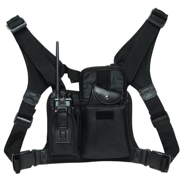 ABBREE walkie talkie нагрудный Карманный Рюкзак для телефона с радио держателем сумка для GP340 CP04 BF UV 5R 888S двухсторонний радиоприемник чехол для переноски