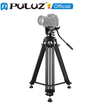 PULUZ Professional Heavy Duty Video Camcorder Aluminum Alloy Tripod with Fluid Drag Head for DSLR / SLR Camera Tripod Stand