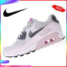 Original Authentic Nike Air Max 90 Women's Running Shoes Sports Outdoor Sneakers Good Quality Lightweight Breathable 616730-112(China)