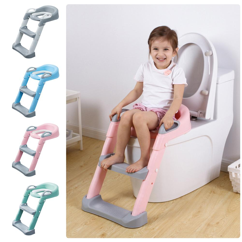 Potty Training Seat with Step Stool Ladder Toilet with Anti-Slip Ladder for Boys Girls
