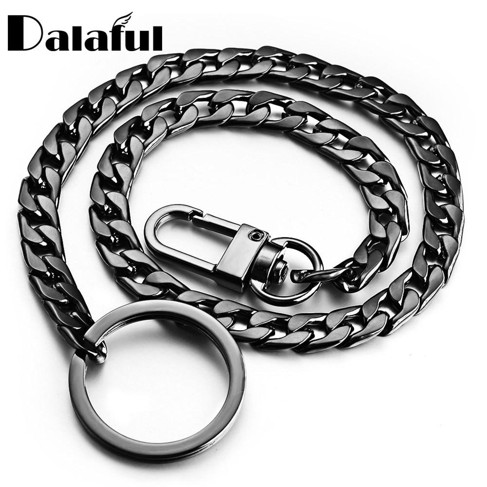 40cm Key Chains Metal Wallet Belt Chain Trousers Hipster Pants Hip Hop Rock Punk Street Keyring Anti-lost Keychain Men K404