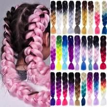 Kong & Li 24 Cal 100g Twist warkocze włosy plecione rozszerzenia Jumbo warkocze Ombre syntetyczne włosy wsparcie hurtownie