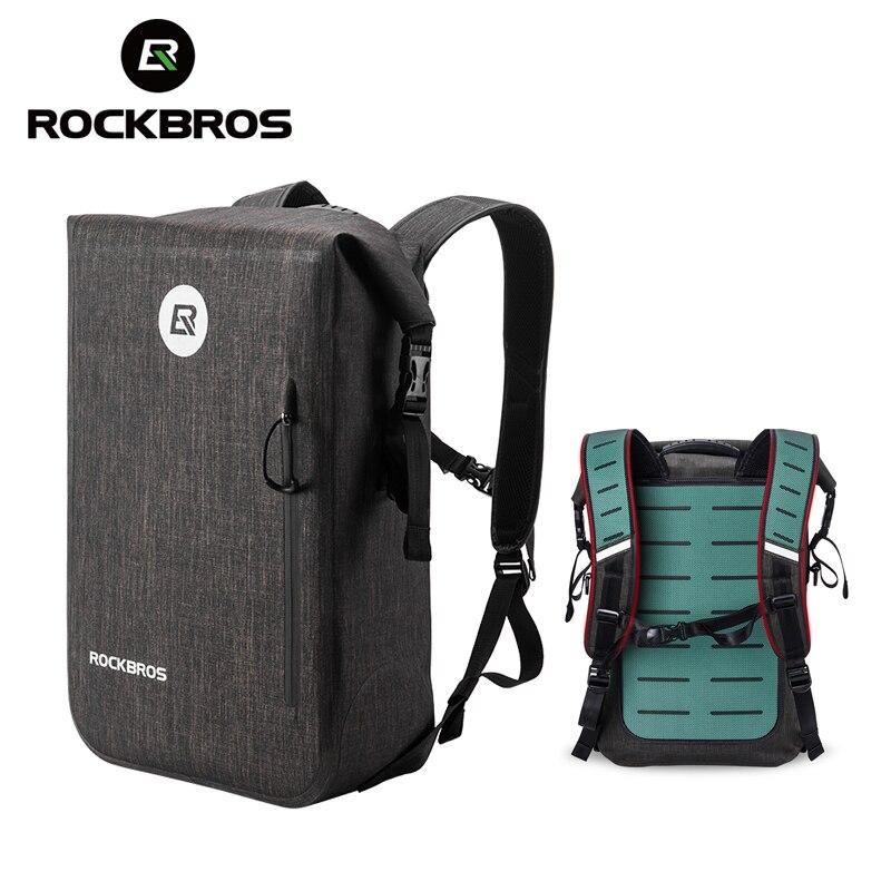 ROCKBROS 24L рюкзак для велоспорта, повседневный Школьный рюкзак, водонепроницаемый рюкзак для велосипеда, Рюкзак Для Путешествий, Походов, Кемп...