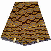 6 Yards Real Wax Prints Fabric African Nigerian Batik Polyester Sewing For Wedding Party Dress Making Gifts Y605