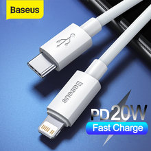 Baseus usb tipo c para iphone 12 11 8 x xr pd 20w carga rápida usb c cabo para iphone cabo de dados de carregamento usb c código de fio