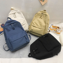 HOCODO Fashion Women Backpack Female School Bag For Teenager Girls Anti Theft Laptop Shoulder Bags Solid Color Travel Backpack