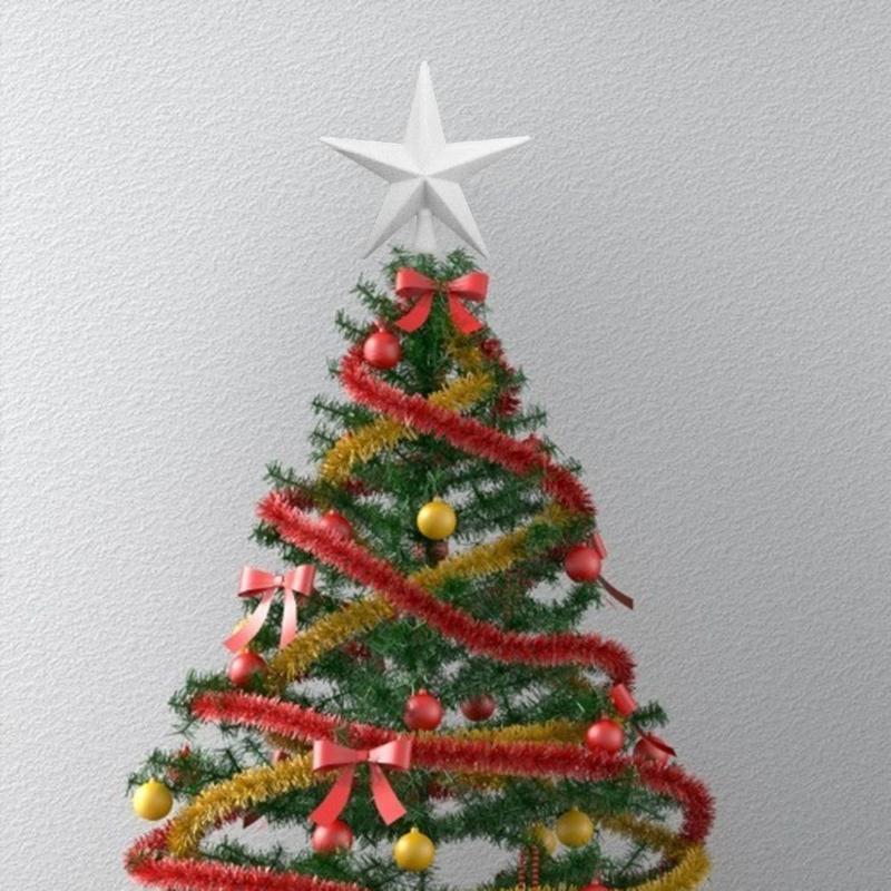 20 см Рождественская Елка Топ Звезда топперы кулон для Счастливого Рождества украшения для дома вечерние украшения подарки