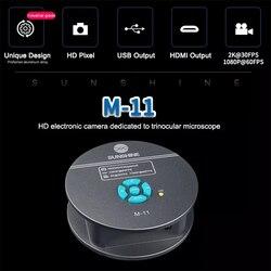 SUNSHINE M-11  4800W HDMI trinocular microscope HD camera For Phone CPU PCB Repair