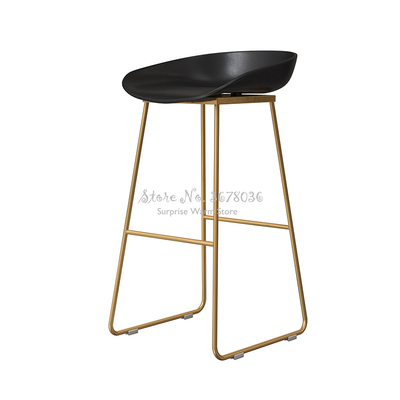 85cm Modern Nordic Bar Stool Wrought Iron Bar Chair Home Back High Chair Creative Cafe Gold Bar Stool