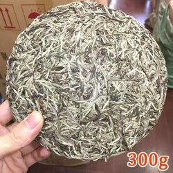 300g Chinese Fujian Old Fuding White Tea Cake Natural Organic White Tea Silver Needle Bai Hao Yin Zhen Tea Fuding White Tea+Free