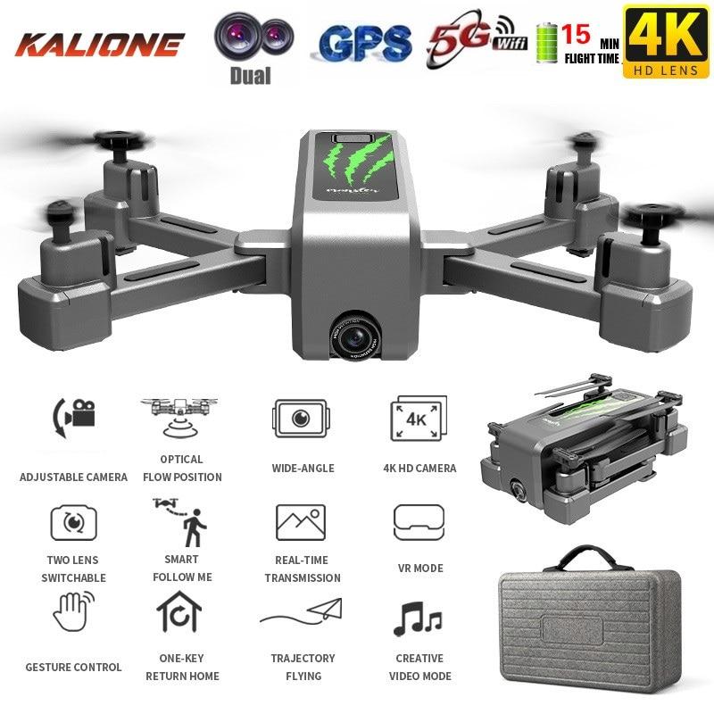 H5 RC drone GPS 4K HD caméra 1080P 5G WIFI FPV drone ESC caméra professionnelle 50X Zoom grand Angle flux optique Selfie drones DRON
