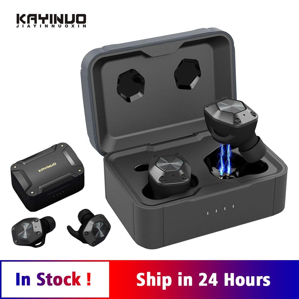 KAYINUO 9D Stereo TWS Sport Bluetooth Earphone 5.0 Wireless Headset Noise Canceling Wireless Earphones With Charging Case