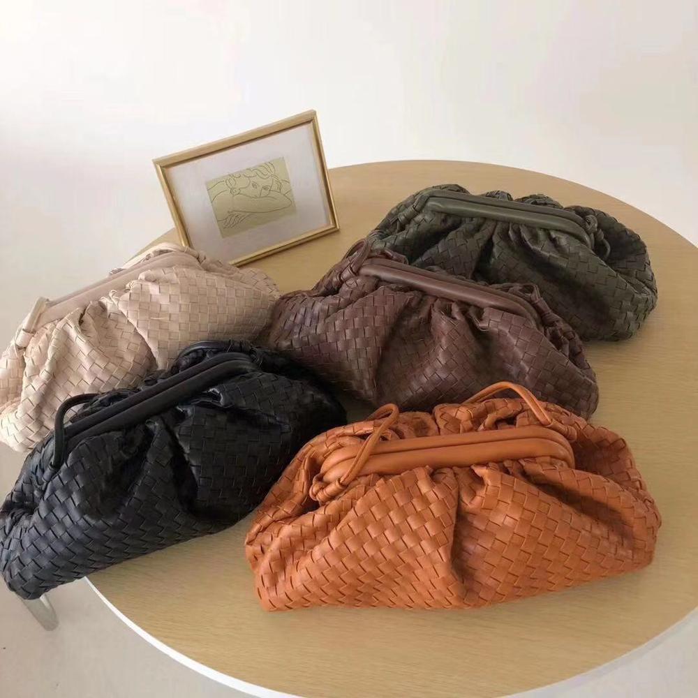 2020 Fold Cloud Bags For Women Soft Leather Shoulder Crossbody Bag Luxury Designer Handbags Clutch Ins Chic Female Dumpling Bags