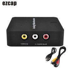 Ezcap272 AV ללכוד מקליט אנלוגי דיגיטלי וידאו ממיר AV HD פלט TF כרטיס לחסוך קובץ תקע ולשחק