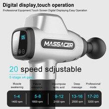 Muscle Massage Gun Handheld Vibration Deep Tissue Massager Powerful Cordless Full Body Muscle Massager with 4 Massage Head