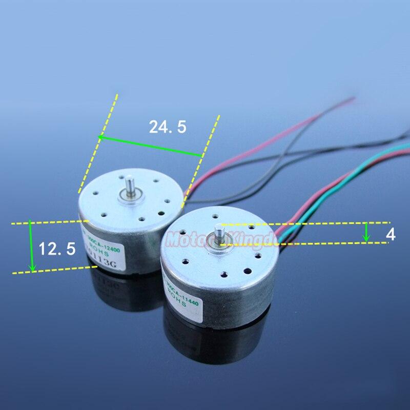 Sankyo DC 3V 5V 6V Silent Mini Micro Round 24mm RF-300C Electric Motor 2mm shaft
