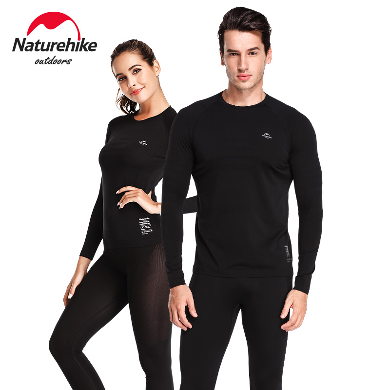 Naturehike Men Women Winter Quick Dry Anti-microbial Stretch Thermal Long Johns Polyester Thick Skiing Thermal Underwear Set
