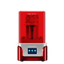 Impressora lcd qidi tech sla/lcd 3d, sombra 6.0 pro uv impressora de resina lcd com trilho de forro de eixo z duplo, tamanho de construção 115*65*150mm