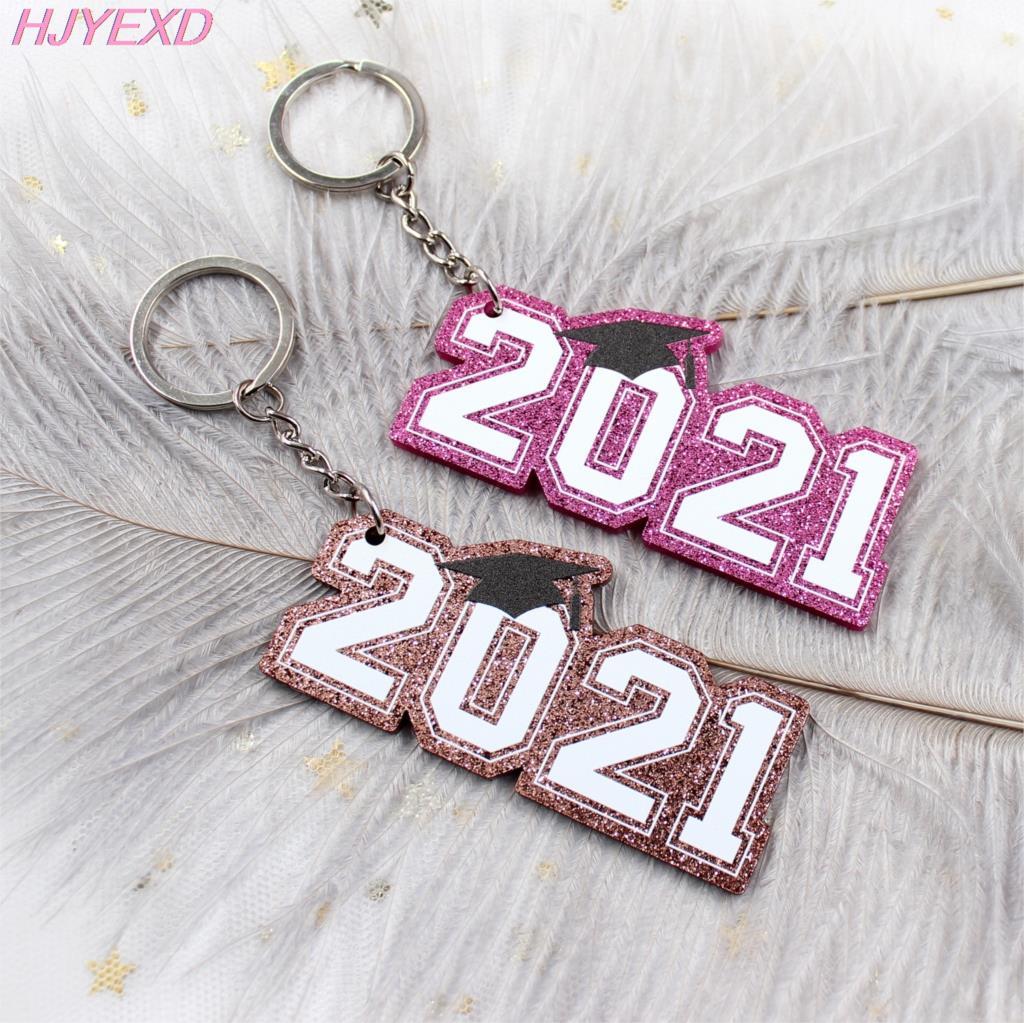 (1 шт) KC040-Acrylic класса 2021 брелок, подарок, Выпускной подарок, 2021 брелок