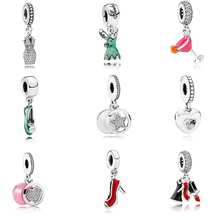 New Colletion 100% 925 Sterling Silver Cocktail Dangle charms Fit Pandora Bracelet Beads For Jewerly Making Gift