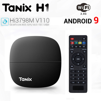 Tanix H1 H2 Android 9.0 Smart TV Box LPDDR4 2GB 16GB Hisilicon Hi3798M V130 2.4G WIFI 4K Media Player Google Play Set top Box