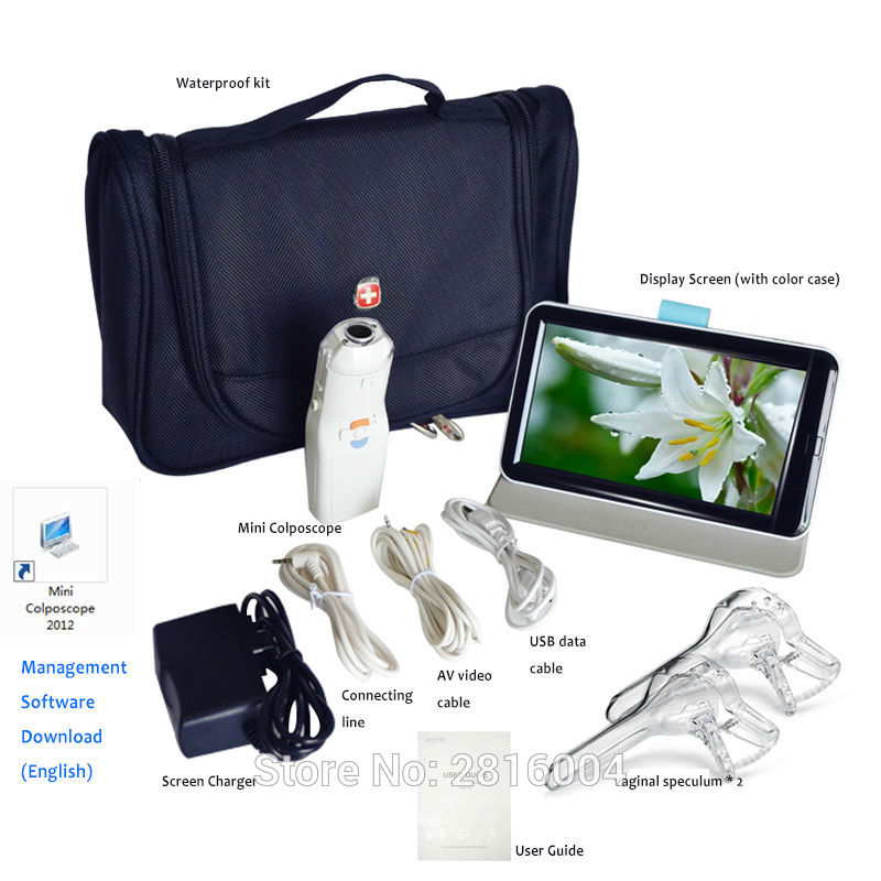 Portable Digital Video Electronic Mini Colposcope FA2 3000 000 Pixels with Display Screen Sunny Medical Miniscope Suit SEYES