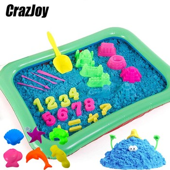 Magic Kinetic Sand Model Clay Tools Diy Indoor Plasticine Sand Castle Mold Building Dynamic Sand Soft Clay For Educational Toys sand mold toys castle clay mold building model beach toys for kids child baby r9ue