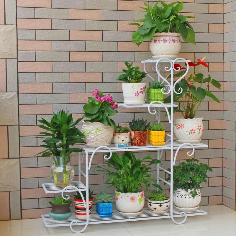 Flower Shelf Multi-storey Indoor Special Home Balcony Racks Wrought Iron Living Room Space Flower Pot Floor-standing