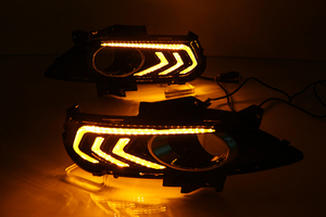 Image 5 - Car Flashing 2PCS For Ford Mondeo Fusion 2013 2014 2015 2016 Car DRL 12V LED Daytime Running Light With Turn Yellow Signal Relay