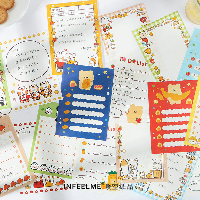 30 Pcs Animal Tent Camp Series Note Memo Pad Kawaii Cat Stationery Notes Portable Notepad School Office Supply Papeleria