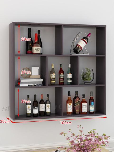 Simple Modern Wine Rack Wine Cabinet Wall Hanging Restaurant Restaurant Wall Hanging Wine Rack Creative Multi Layer Shelf Storage Holders Racks Aliexpress
