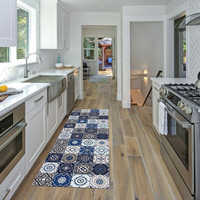 Tapete de cocina bohemio para puerta moderno, sala de estar alfombra para, decoración Bohemia, alfombra antideslizante para cocina, alfombra para pasillo, decoración para el hogar