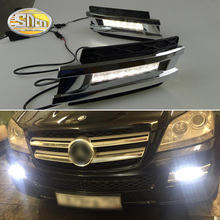 Led Daytime drl Lights fog lamps for Mercedes Benz gl CLASS gl350 gl400 gl450 gl500 X164 2006 2007 2008 2009 2 pcs led daytime running light for mercedes benz gl gl350 gl400 gl450 gl500 x164 2006 2009 best quality wholesale price newest