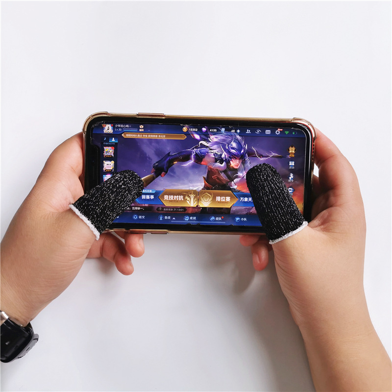Newly 10Pcs Mobile Finger Sleeve Sensitive Game Controller Sweatproof Aim Keys For PUBG DC128