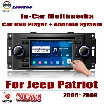 Car Radio DVD Player GPS Navigation For Jeep Patriot 2006~2009 Android HD Displayer System Audio Video Stereo In Dash Head Unit