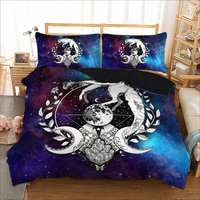 wolf butterfly printed bedding set for comforter queen King single sizes bed linens set Quilt / Duvet cover set new 3pcs
