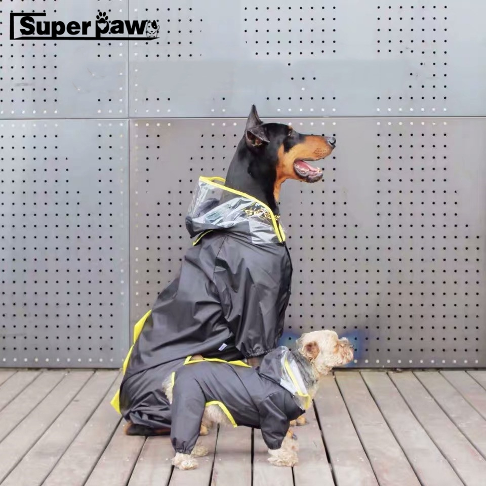 Fashion Small Medium Large Dog Raincoat Dogs Rain Coat Pet Clothes Puppy Doberman Labrador Waterproof Jacket TLC04