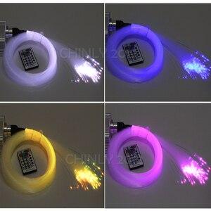 Image 3 - Smartphone APP Control Fiber Optic Licht 10W Twinkle Wirkung Bluetooth & Musik Steuerung RGBW LED Lichter Kit Sterne Decke beleuchtung