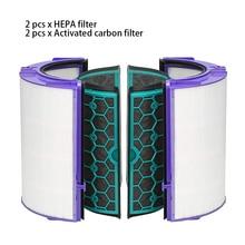 4 قطعة/المجموعة دائم سهلة التركيب قابلة لإعادة الاستخدام الكربون المنشط لتنقية الهواء تنظيف مجموعة فلاتر المنزل ل دايسون TP04 TP05 HP04 HP05 DP04