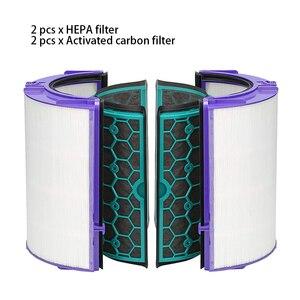 Image 1 - 4 قطعة/المجموعة دائم سهلة التركيب قابلة لإعادة الاستخدام الكربون المنشط لتنقية الهواء تنظيف مجموعة فلاتر المنزل ل دايسون TP04 TP05 HP04 HP05 DP04