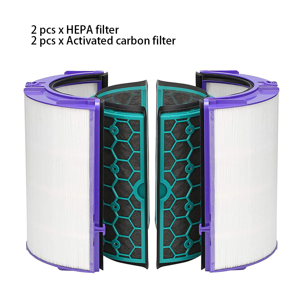 4PCS/Set Durable Easy Install Reusable Activated Carbon Air Purifier Cleaning Home Filter Set For Dyson TP04 TP05 HP04 HP05 DP04-in Air Purifier Parts from Home Appliances